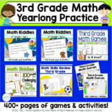 Third Grade Math Skills Yearlong Practice Activity Bundle