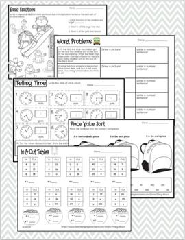 Third Grade Math Review BUNDLE (ENTIRE YEAR)