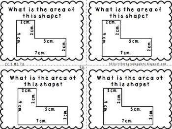 Third Grade Math Review Cards Set #2