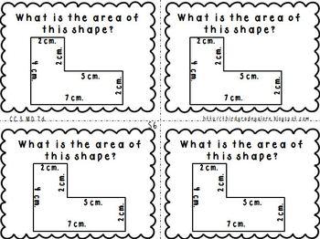Third Grade Math Review Cards Set #2