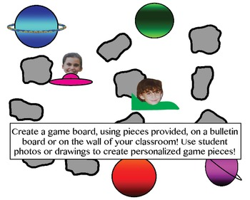 Third Grade Math Review Game - Space Race