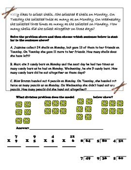 Third Grade Math Review (Middle - End of year)