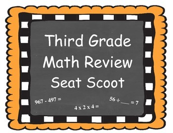 Third Grade Math Review Seat Scoot