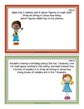 Third Grade Math Review Task Cards