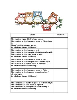 Third Grade Math Review- Worksheets that Addresses 5 of the CCSS-Grumpy Owls