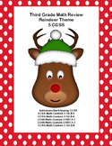 Third Grade Math Review- Worksheets that Address 5 of the CCSS-Reindeer Theme