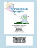 Bundle of Third Grade Math Review-  5 of the CCSS- Spring Theme