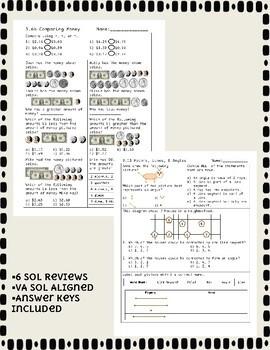 Third Grade Math SOL Review Bundle