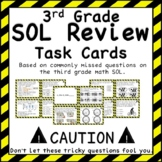 Third Grade Math SOL Review Task Cards