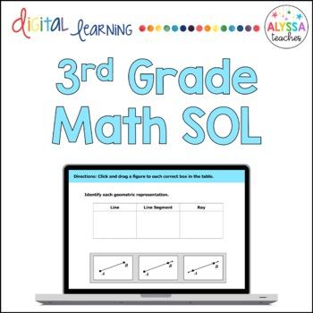 Third Grade Math SOL TEI Questions (Digital Review)
