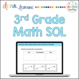 Third Grade Math SOL TEI Questions (Digital Review) - Distance Learning
