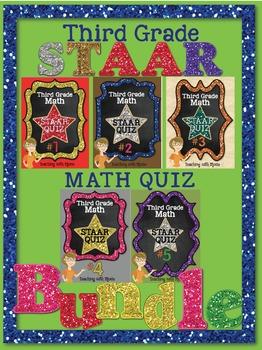 Third Grade Math STAAR Quiz Bundle
