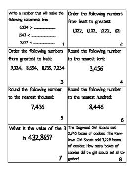 Third Grade Math Scoot