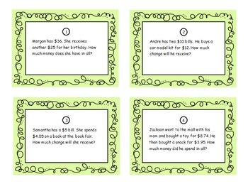 Third Grade Math Scoot-Money