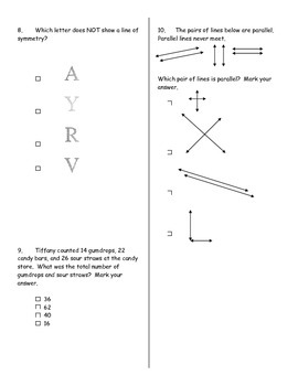 Third Grade Math Simulation