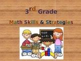 Third Grade Math Skills & Strategies (Powerpoint)
