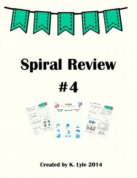 Third Grade Math Spiral Review 4 VA SOL Aligned