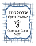 Third Grade Math Spiral Review Booklet and Planning Guide