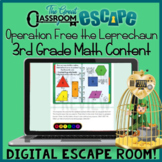 Third Grade Math St. Patrick's Day Digital Escape Room