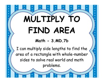 Third Grade Math Standards - Aligned with Common Core