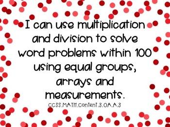 Third Grade Math Standards