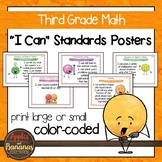 """Third Grade Math Common Core Standards - """"I Can"""" Posters &"""