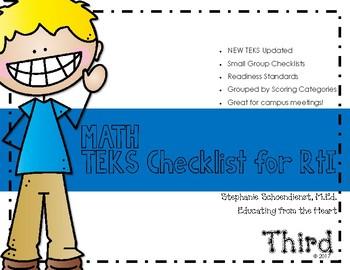 Third Grade Math TEKS Checklist