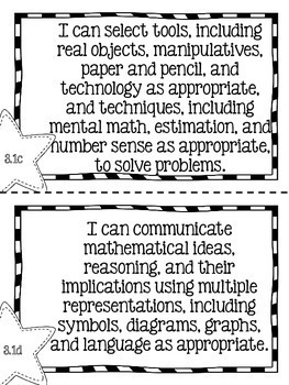 "Third Grade Math TEKS ""I Can"" Statements"