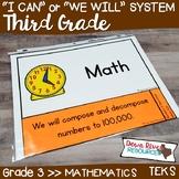 Third Grade Math TEKS I Can Statements