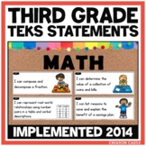 Third Grade Math TEKS - Can and Will Standards Statements