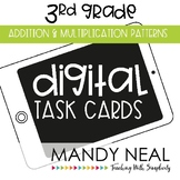 Third Grade Digital Math Task Cards ~ Addition and Multipl