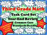 Third Grade Math Task Cards- Test Prep