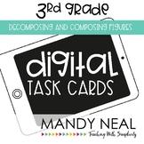 Third Grade Math Task Cards ~ Digital Decomposing and Comp
