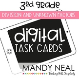 Third Grade Math Task Cards ~ Digital Division and Unknown