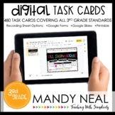 Third Grade Digital Math Task Cards ~ Bundle | Distance Learning