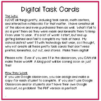 Third Grade Math Task Cards ~ Digital Multiplication & Division Word Problems