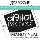 Third Grade Digital Math Task Cards ~ Multiplication & Div