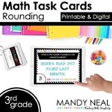 Third Grade Digital Math Task Cards ~ Rounding   Distance