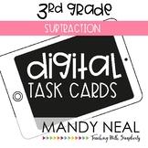 Third Grade Digital Math Task Cards ~ Subtraction   Distan