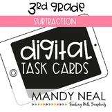 Third Grade Digital Math Task Cards ~ Subtraction | Distan