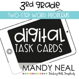 Third Grade Math Task Cards ~ Digital Two Step Word Problems