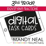 Third Grade Digital Math Task Cards ~ Identifying Fraction