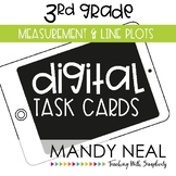 Third Grade Math Task Cards ~ Measurement and Line Plots