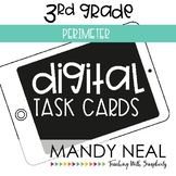 Third Grade Digital Math Task Cards ~ Perimeter   Distance