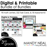 Third Grade Digital Math Task Cards, Centers, Assessments