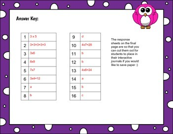 arrays, skip count, number lines, repeated addition Tek 3.4d and 3.4e