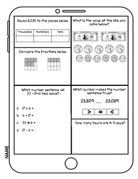 SOL Third Grade Math Test Prep