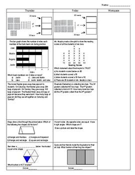 Third Grade Math Spiral Review Week 9