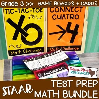 Third Grade Math Test Prep Review Games Bundle | Third Grade TEKS