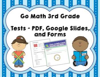 Third Grade Math Tests Bundle (Whole Year, Go Math Correlated)